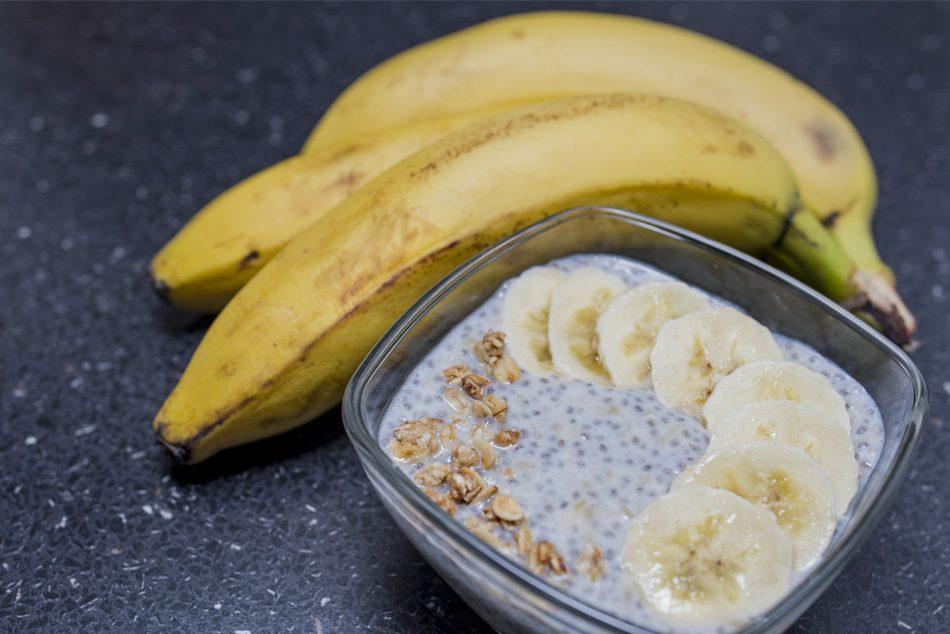 Banános chia puding