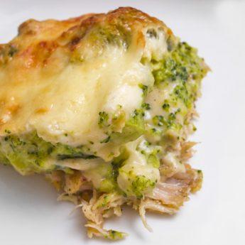Csőben sült csirkehúsos brokkoli