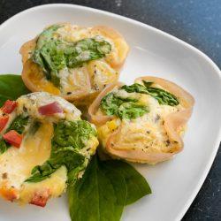 Diétás tojás muffin spenóttal reggeli recept
