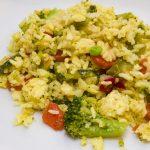 Kurkumás zöldséges rizs