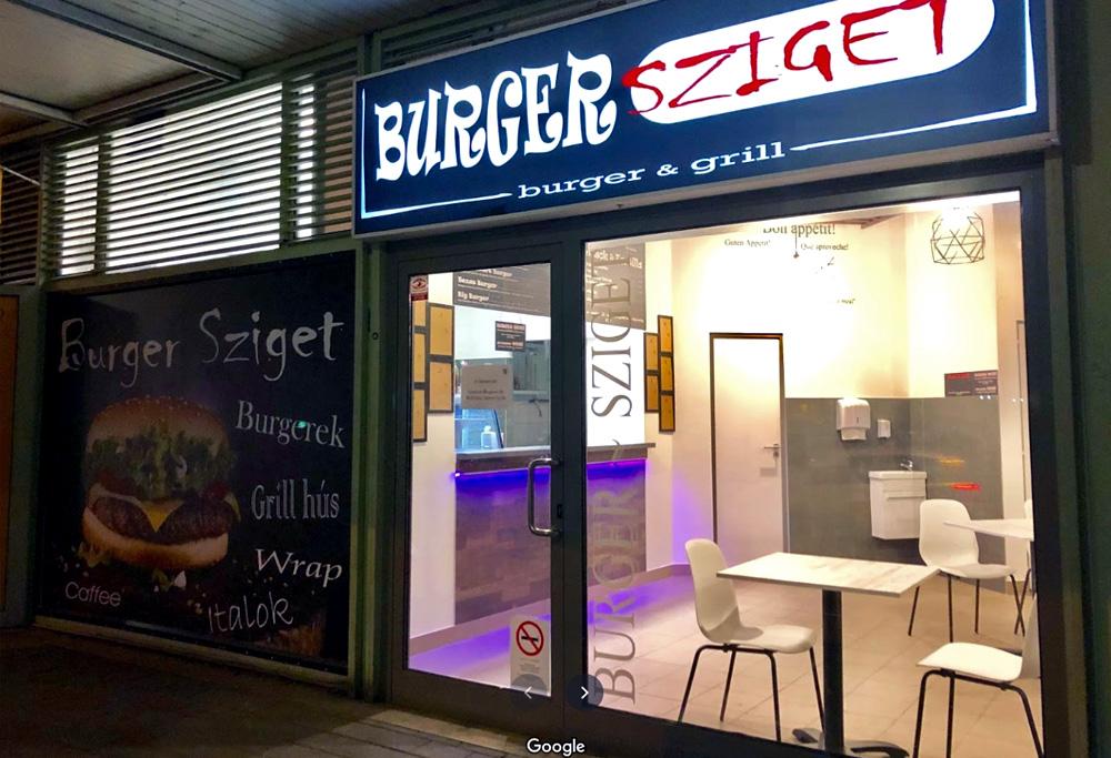 Burger Sziget Csepel kívülről
